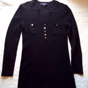 'Anne Klien' Black Shirt w/Golden Buttons. MD